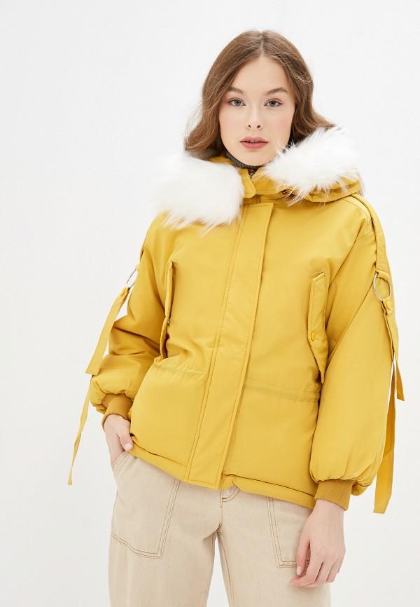 Фото - Куртку утепленная Vagi желтого цвета