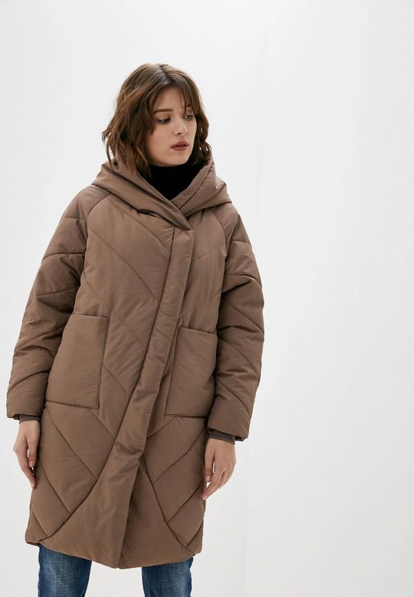 Фото - Куртку утепленная Vagi коричневого цвета