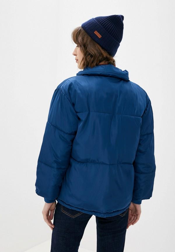 Фото 3 - Куртку утепленная Vagi синего цвета