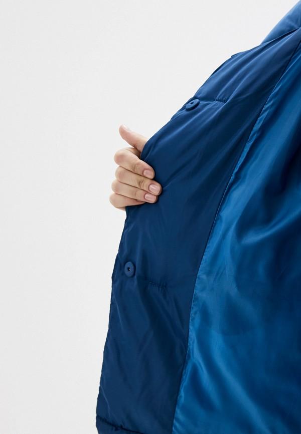 Фото 4 - Куртку утепленная Vagi синего цвета