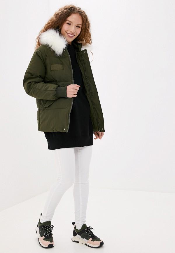 Фото 2 - Куртку утепленная Vagi цвета хаки