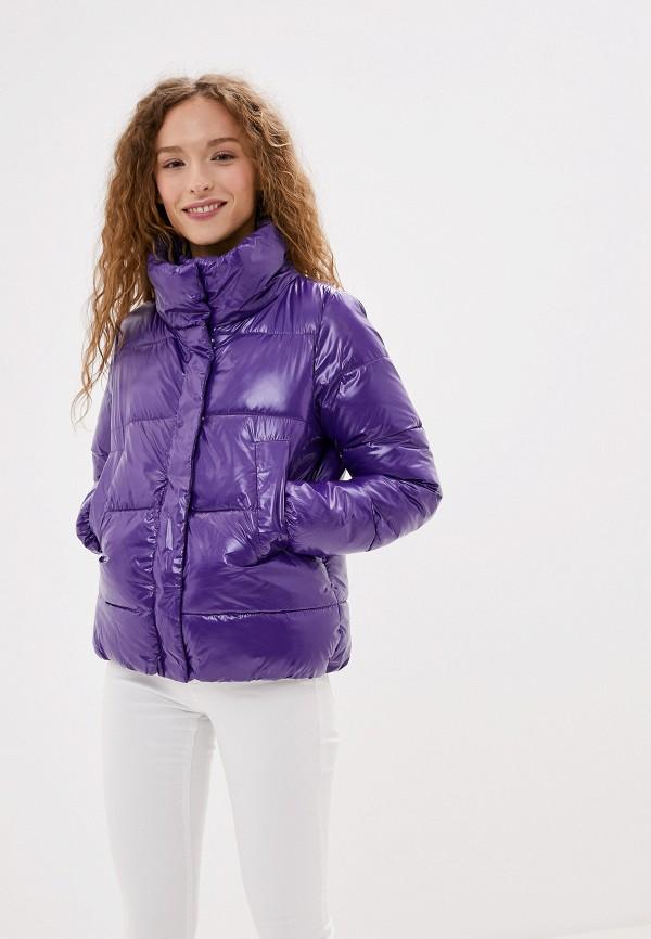 Фото - Куртку утепленная Vagi фиолетового цвета