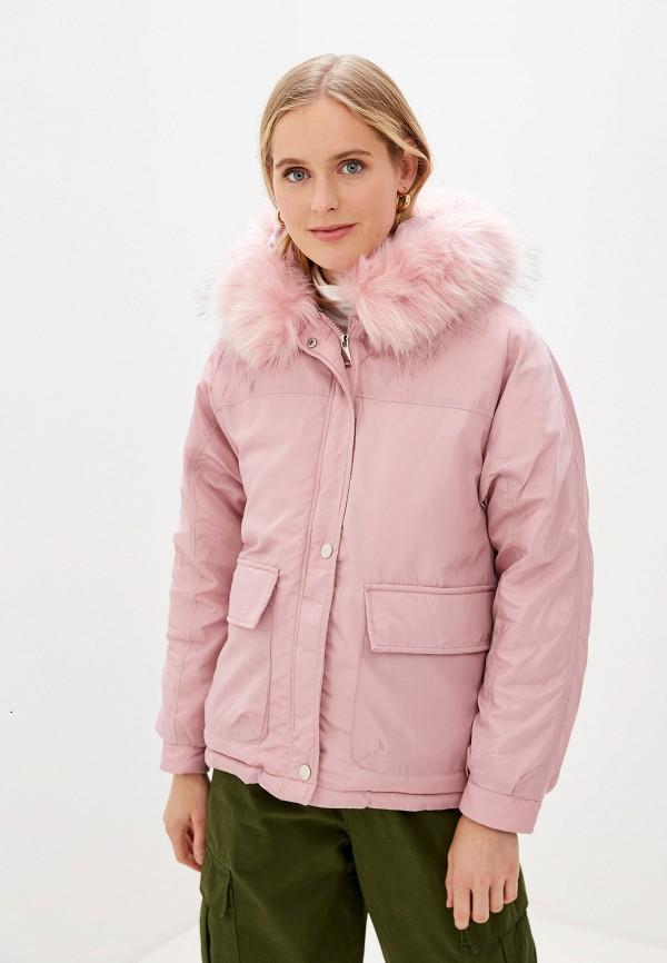 Фото - Куртку утепленная Vagi розового цвета