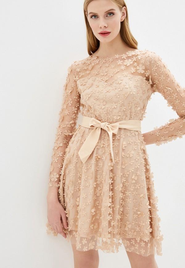 женское вечерние платье vagi, бежевое