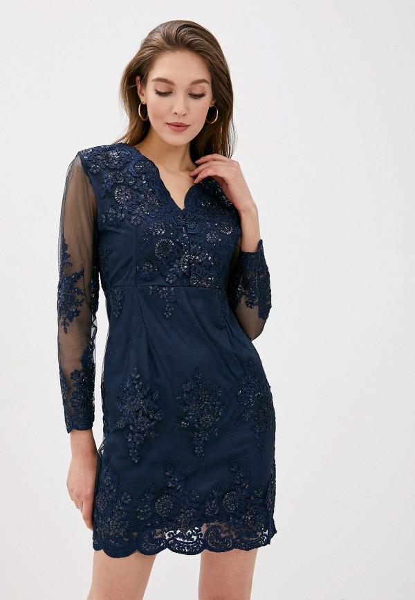 женское вечерние платье vagi, синее