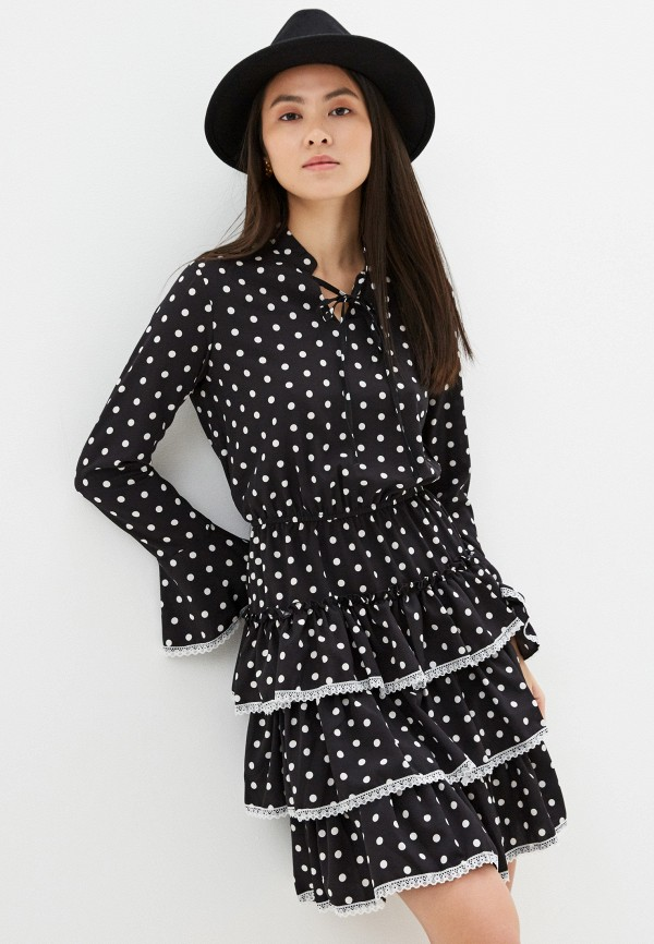 женское повседневные платье vagi, черное