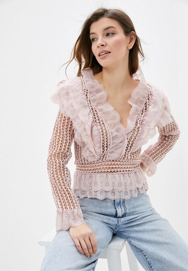 женская блузка vagi, розовая