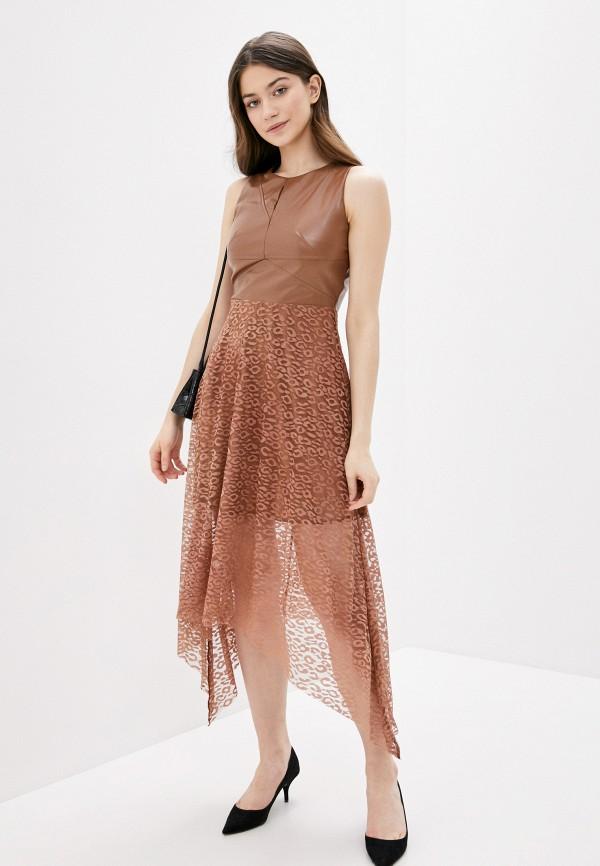 женское платье vagi, коричневое