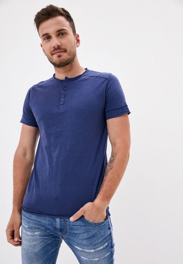 мужская футболка с коротким рукавом van hipster, синяя