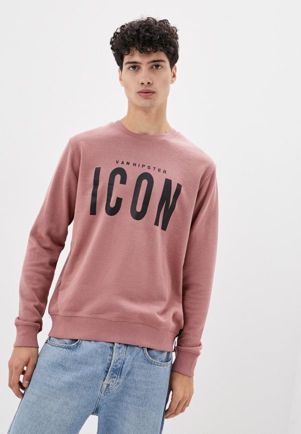 мужской свитшот van hipster, розовый
