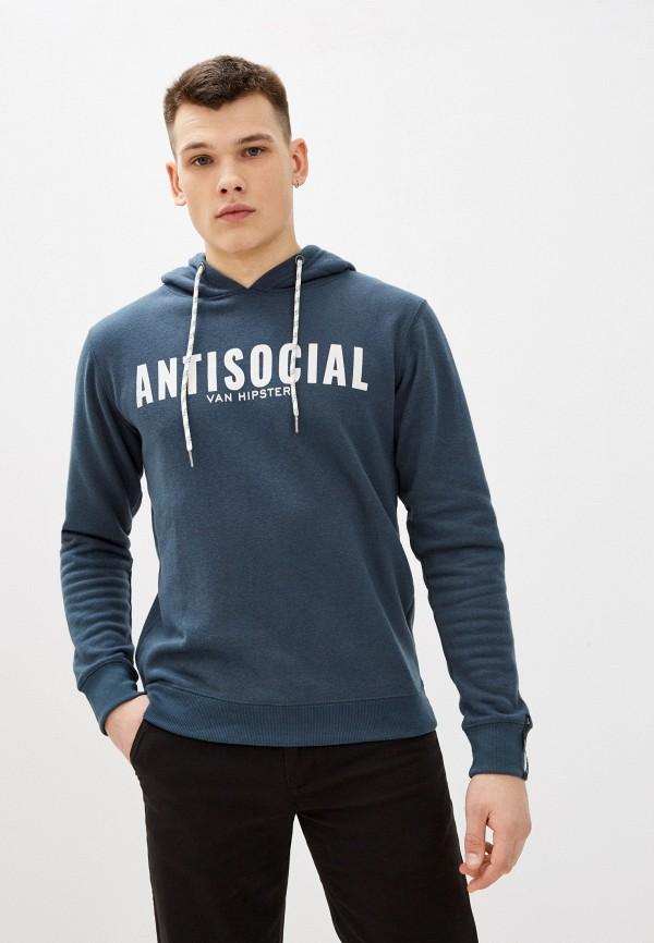мужские худи van hipster, синие