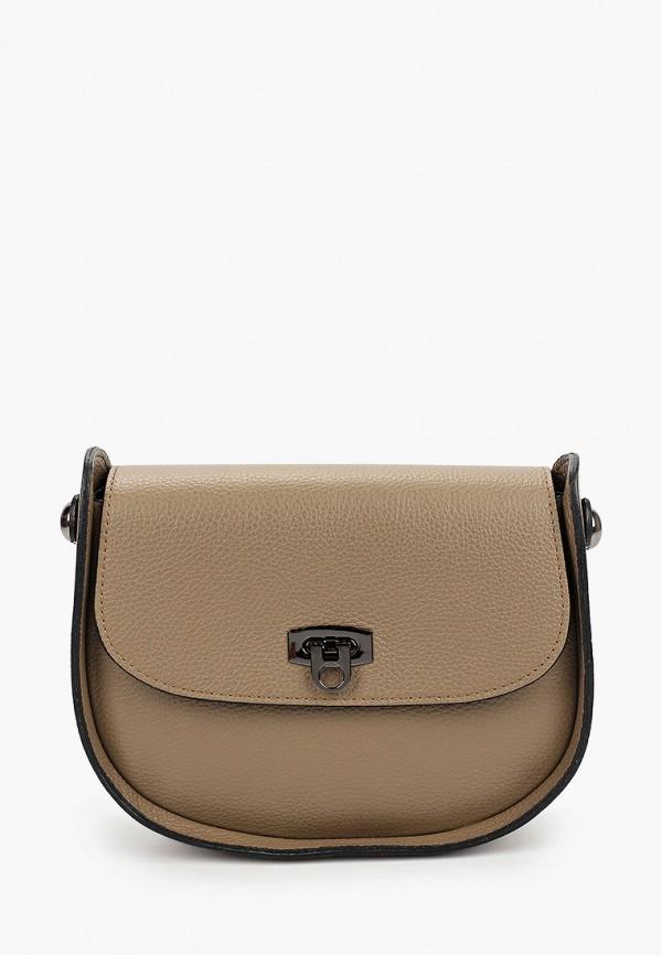 женская сумка valeria vinci, бежевая