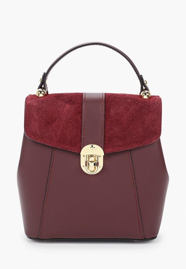 женский рюкзак valeria vinci, бордовый