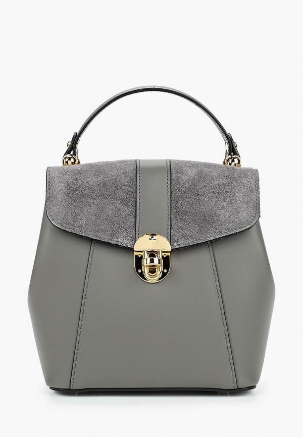 женский рюкзак valeria vinci, серый