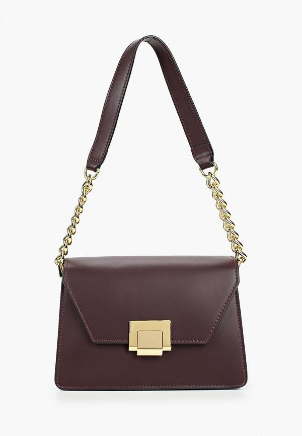 женская сумка valeria vinci, бордовая