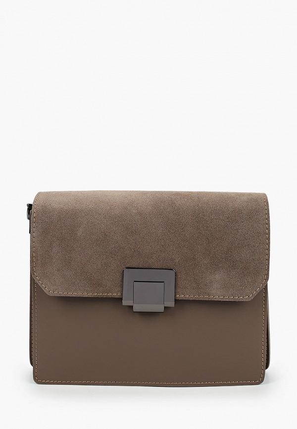 женская сумка valeria vinci, коричневая