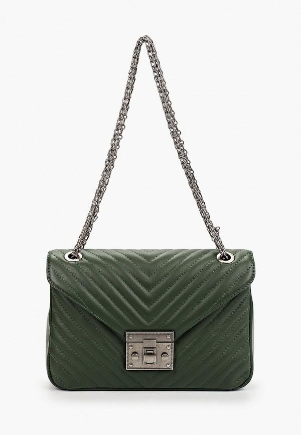 женская сумка valeria vinci, зеленая