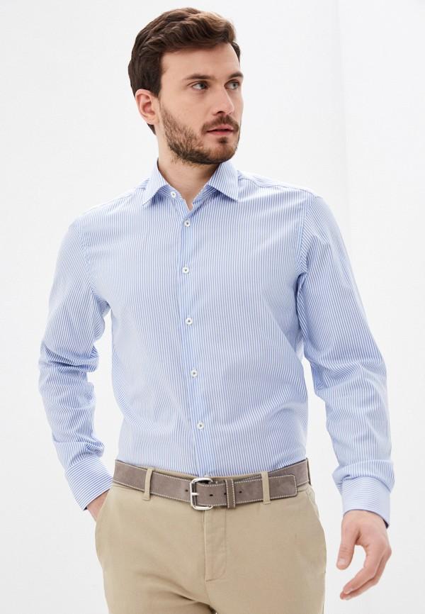мужская рубашка с длинным рукавом van laack, голубая