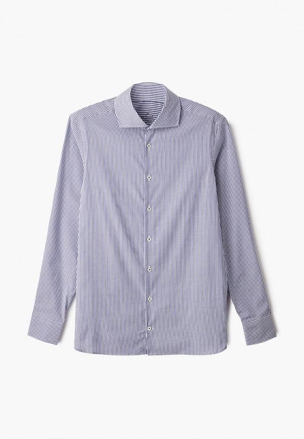 мужская рубашка с длинным рукавом van laack, синяя