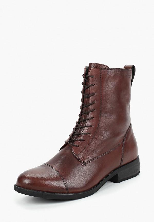 женские высокие ботинки vagabond, бордовые