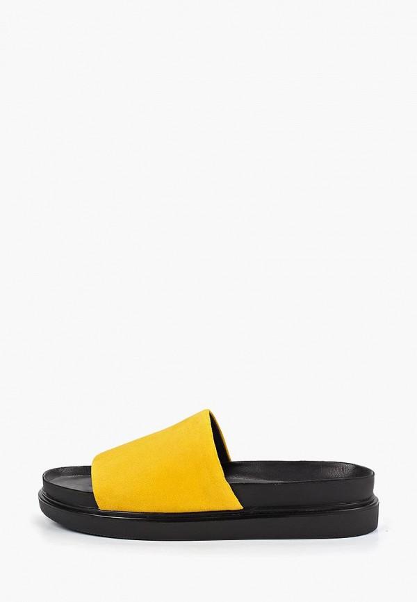 женское сабо vagabond, желтое