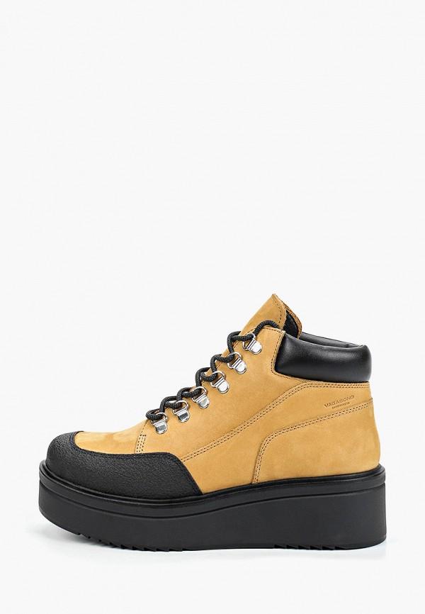 женские высокие ботинки vagabond, желтые
