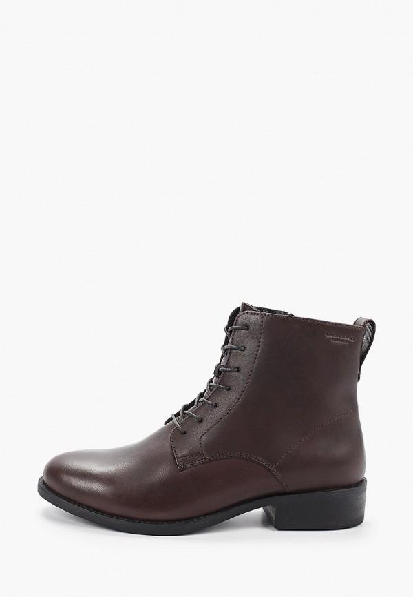 женские высокие ботинки vagabond, коричневые