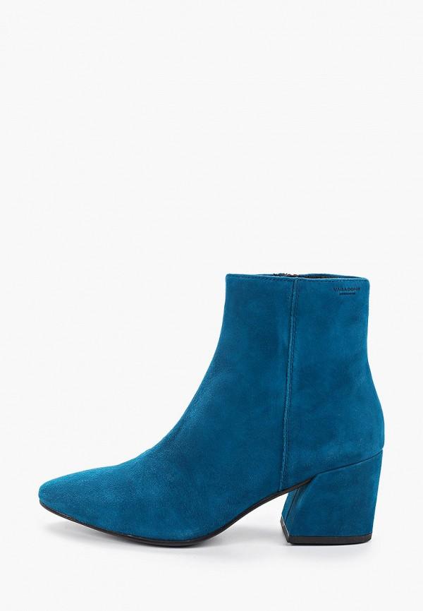 женские высокие ботильоны vagabond, синие