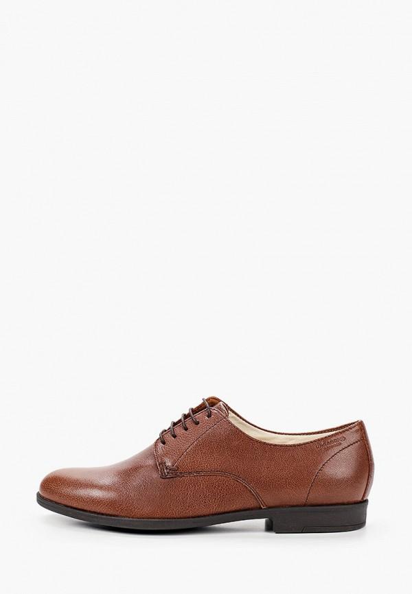женские ботинки-оксфорды vagabond, коричневые