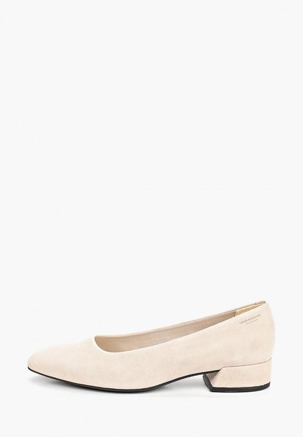женские туфли с закрытым носом vagabond, бежевые