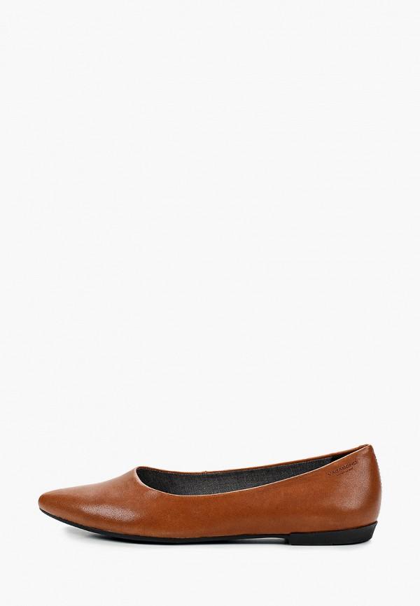 женские туфли с закрытым носом vagabond, коричневые