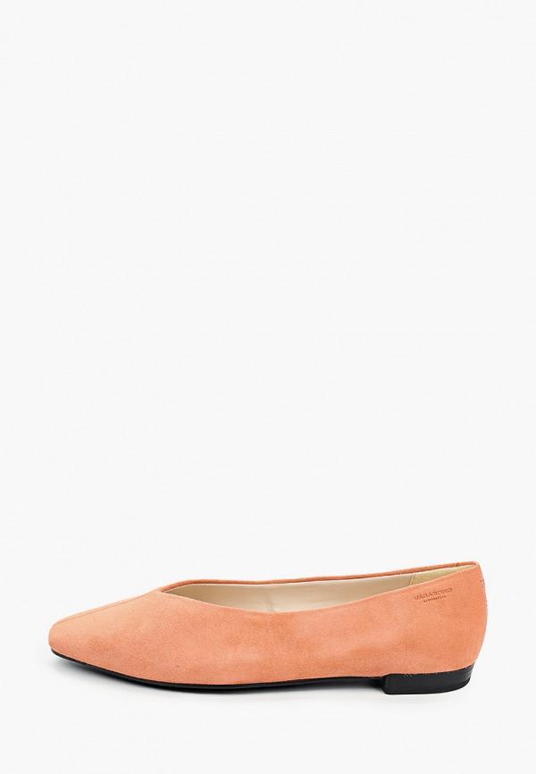 женские туфли с закрытым носом vagabond, оранжевые