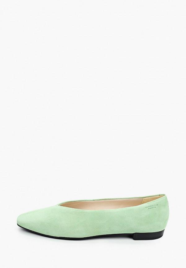 женские балетки vagabond, зеленые