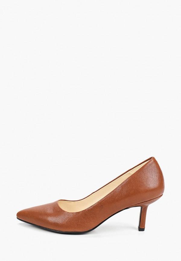 женские туфли-лодочки vagabond, коричневые