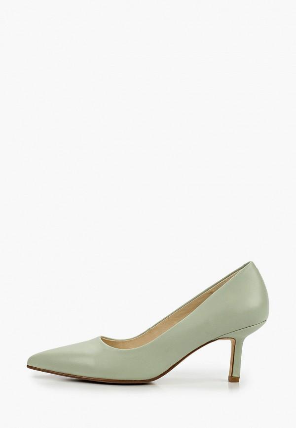 женские туфли-лодочки vagabond, зеленые