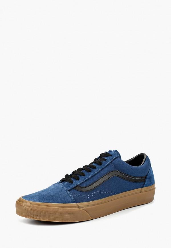 мужские низкие кеды vans, синие