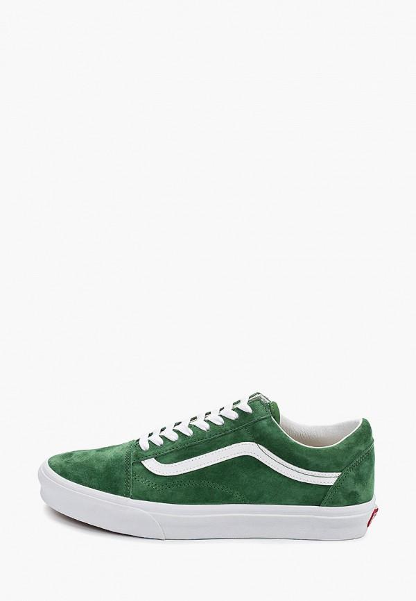 мужские кеды vans, зеленые