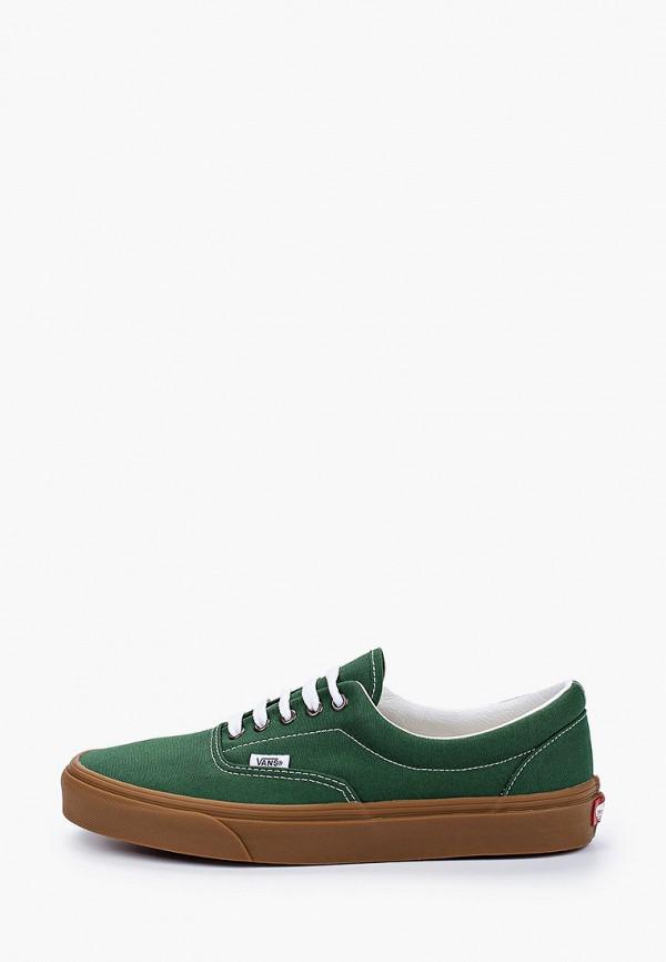 мужские низкие кеды vans, зеленые