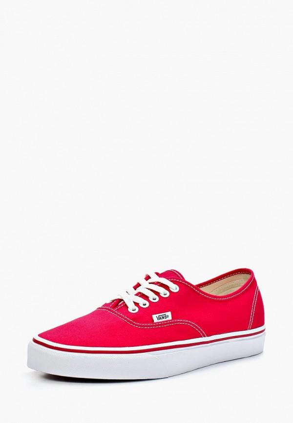 женские кеды vans, красные