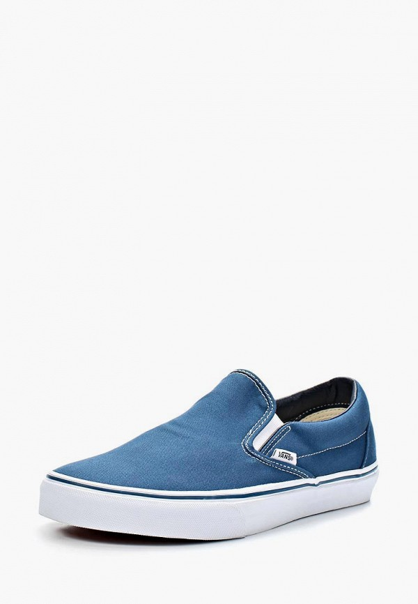 мужские слипоны vans, синие