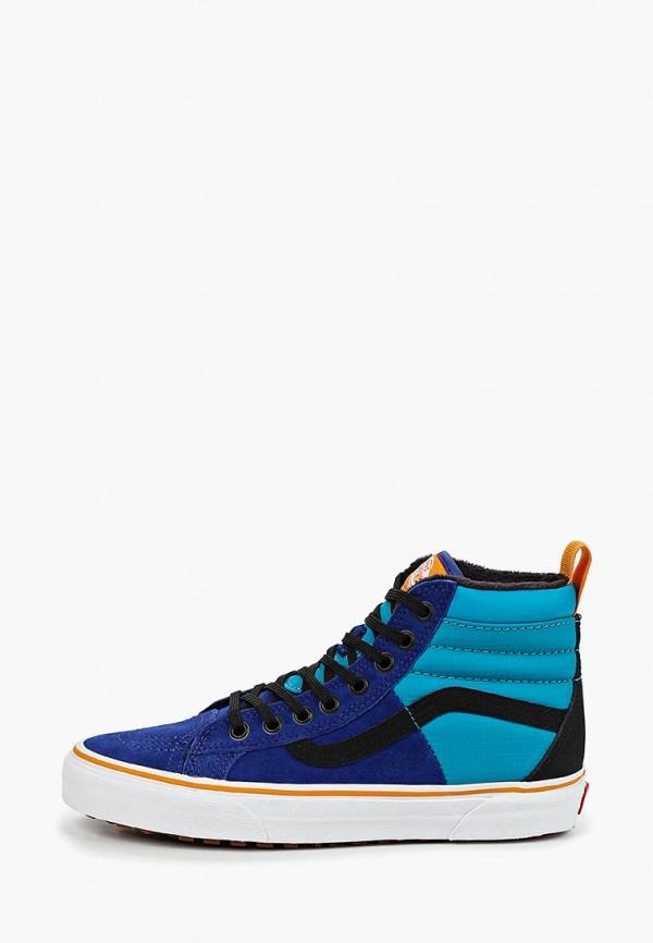 женские кеды vans, синие