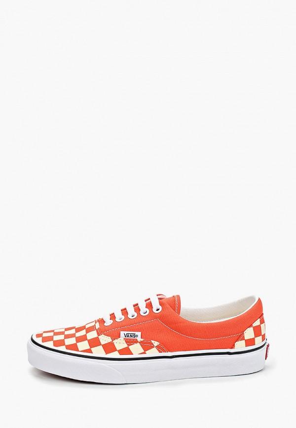 женские кеды vans, оранжевые
