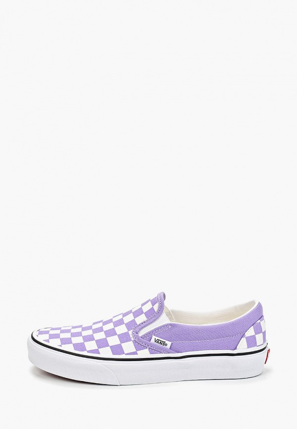 женские слипоны vans, фиолетовые