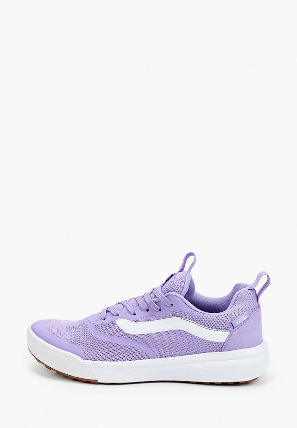 женские низкие кроссовки vans, фиолетовые