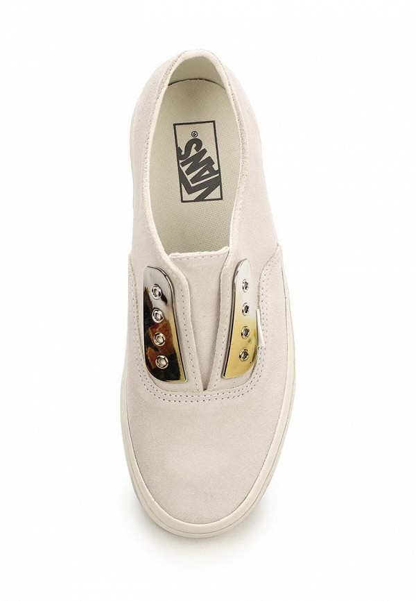 Фото 4 - женские кеды Vans белого цвета