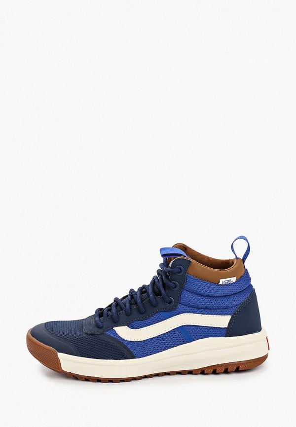 женские кроссовки vans, синие