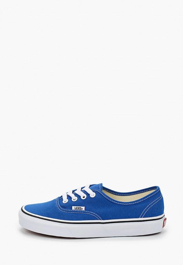 женские низкие кеды vans, синие