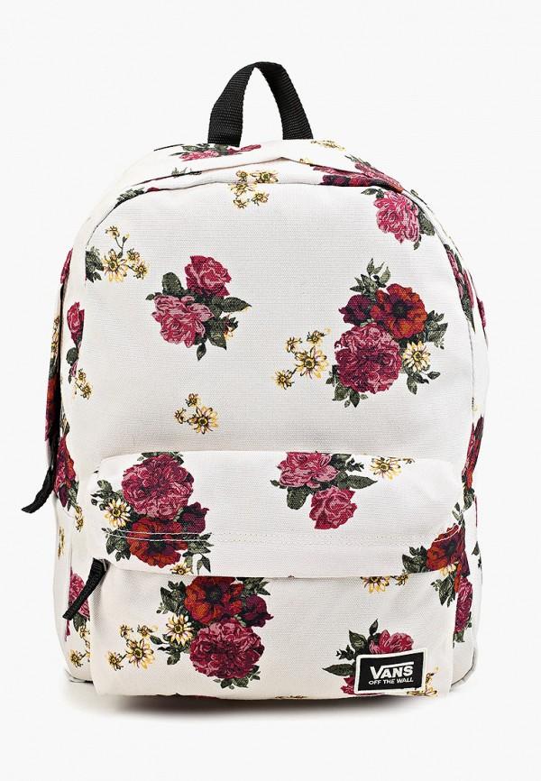 женский рюкзак vans, белый