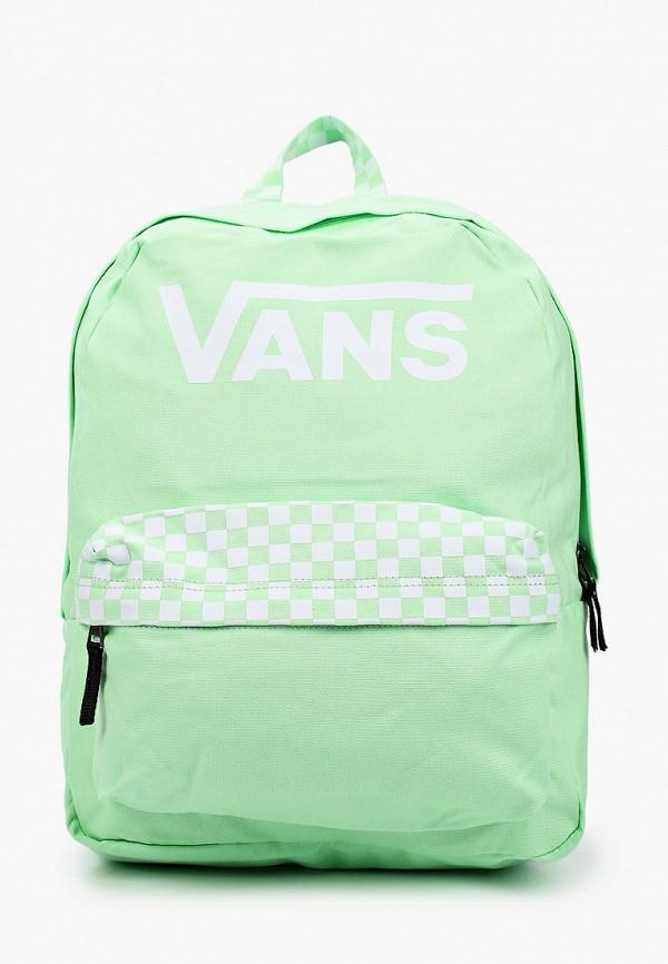 женский рюкзак vans, зеленый
