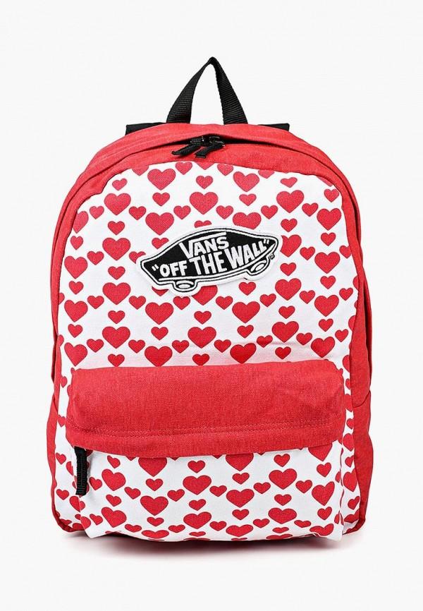 женский рюкзак vans, красный